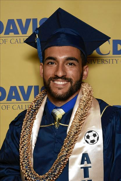 Evan Alvarez, Marian's second son who completed BA in 2017