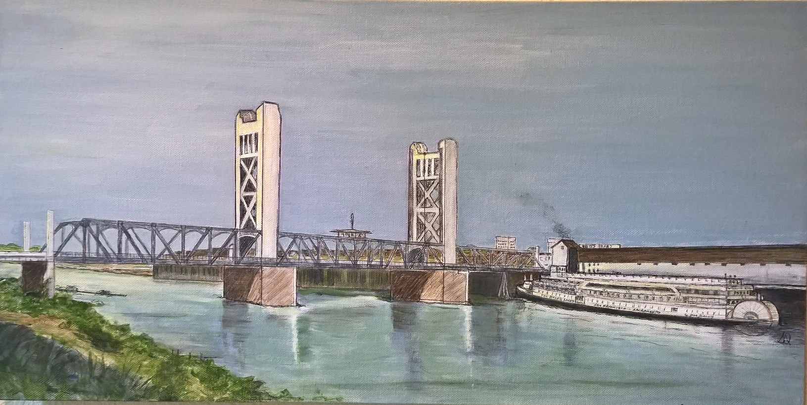 Painting of the Tower Bridge in Sacramento