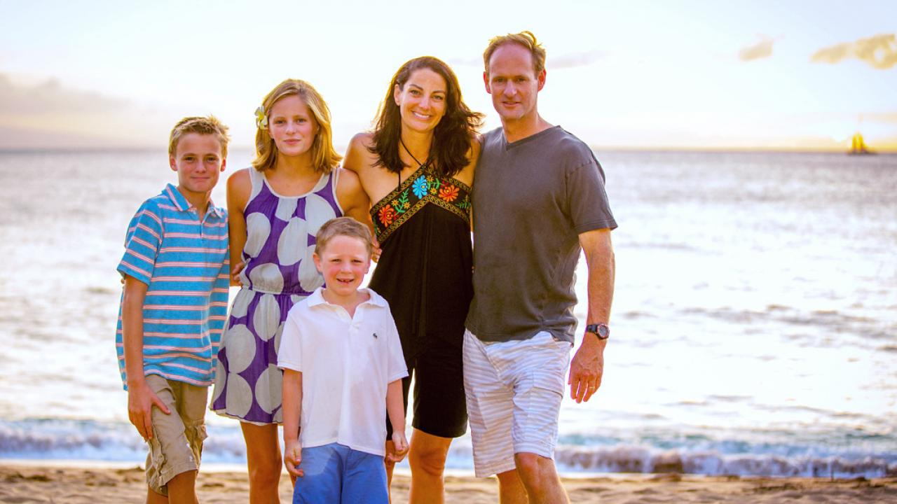 Erin Glanville and her husband, Jeff, enjoy a vacation in Maui with their three kids.