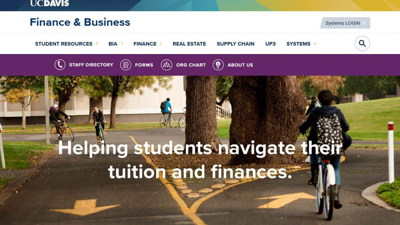 Screenshot of Student Resources Website