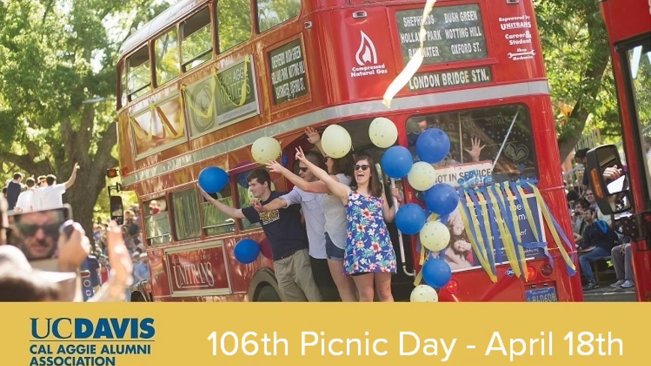 106th picnic day with unitrans bus
