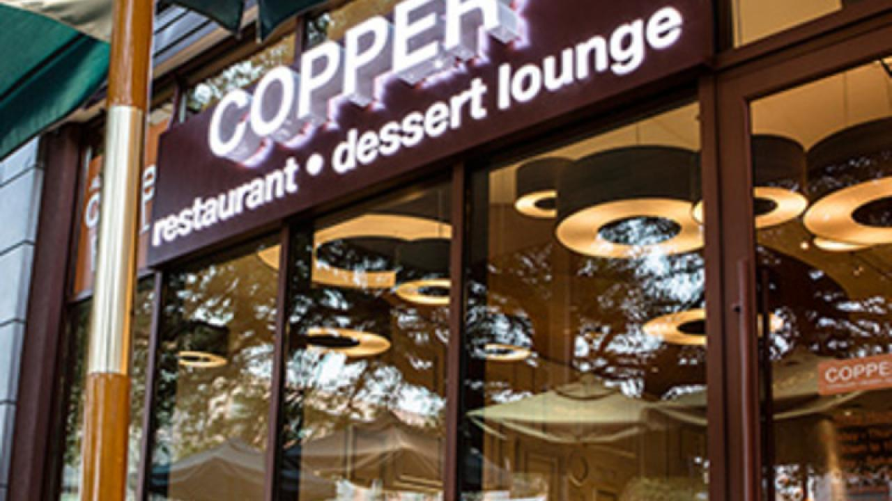 Picture of front of Copper Restaurant and Dessert Lounge