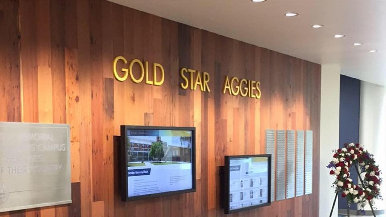 Gold Star Aggies Wall