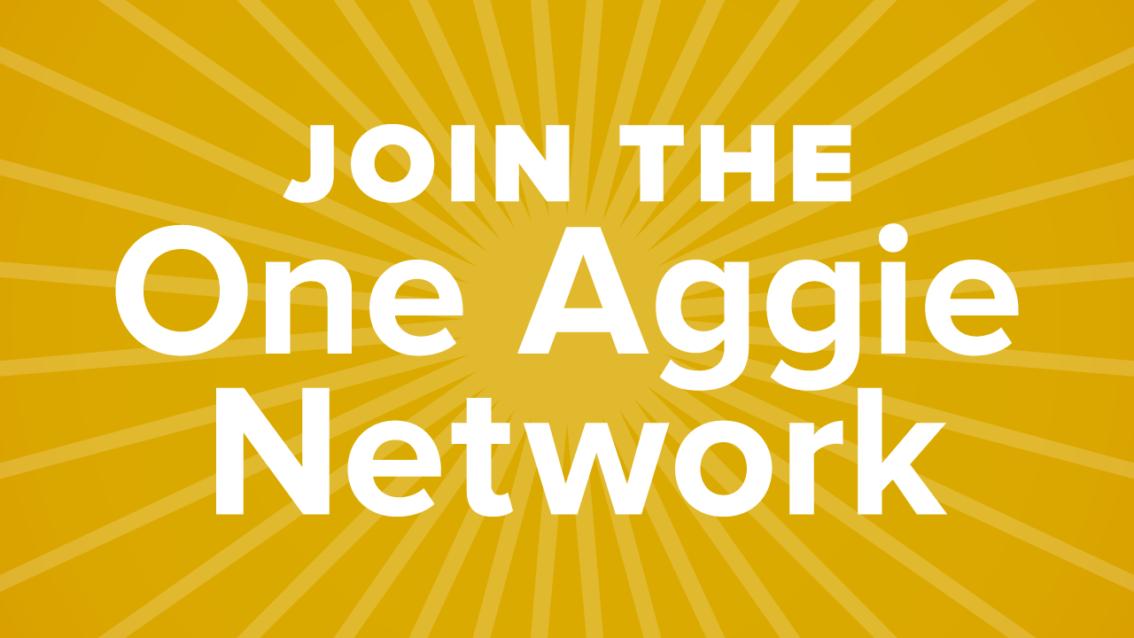 Join the One Aggie Network graphic