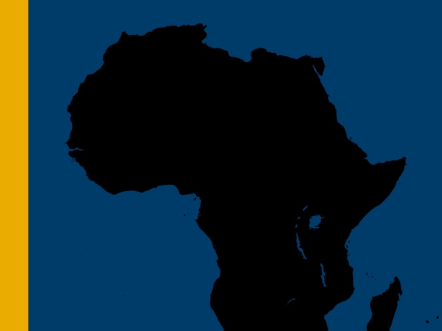 Outline of the African continent