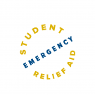 Text that reads Student Emergency Relief Aid is written in yellow and blue font on a white background.