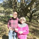 Russell and Bette Russel standing in their vineyard