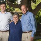 Steve (right) and Carol Ware (middle) with their son Jeff (left)- a mechanical and aerospace engineer