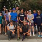 Group of alumni and friends on a 2017 hike