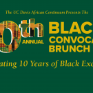 Text reads 10th Annual Black Convocation Brunch on a green background