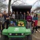 Group at park clean up