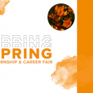"Text reads: ""Spring Internship & Career Fair"" and includes the UC Davis Internship and Career Center wordmark"
