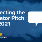 "Image of speech bubble; text reads ""Perfecting the Elevator Pitch for 2021"""