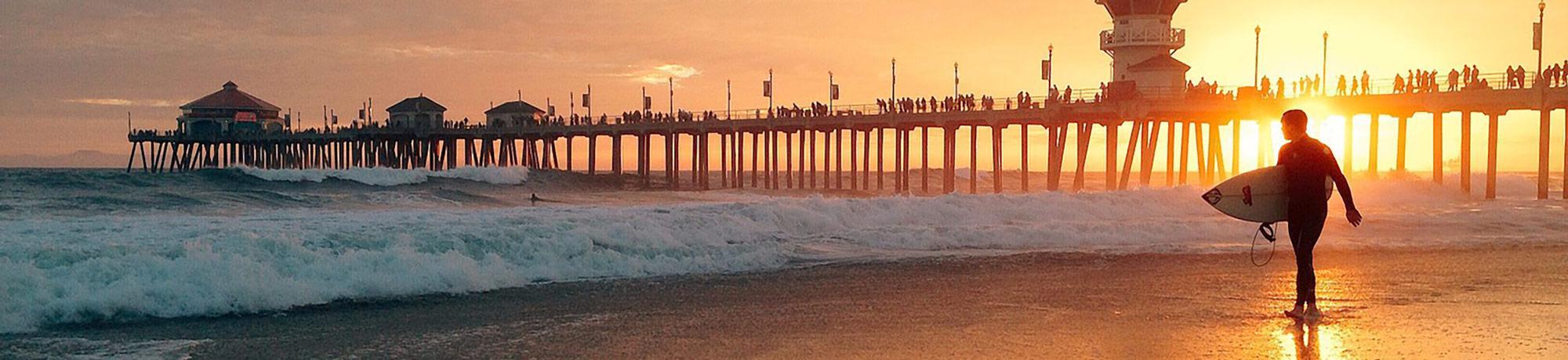 Pier in sunset